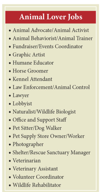 great jobs for animal lovers